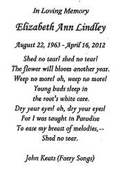 Elizabeth Lindley Memorial