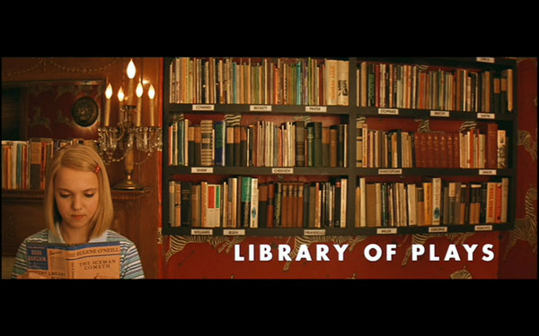 Margot Tenenbaum in the Library (with the book)