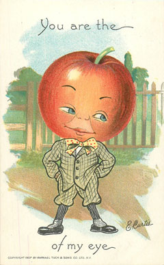 E. Curtis Vegetable Children postcards